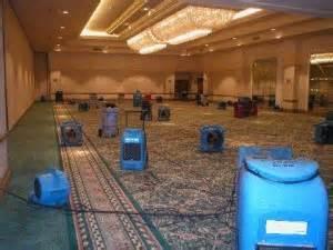 water damage equipment on carpet - elite property